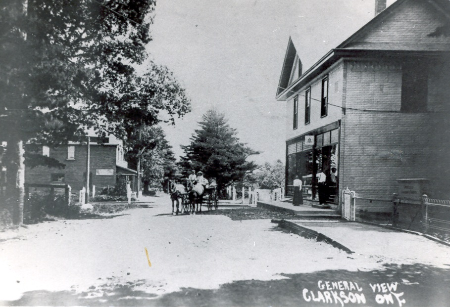 Clarkson Road, looking South, c1900
