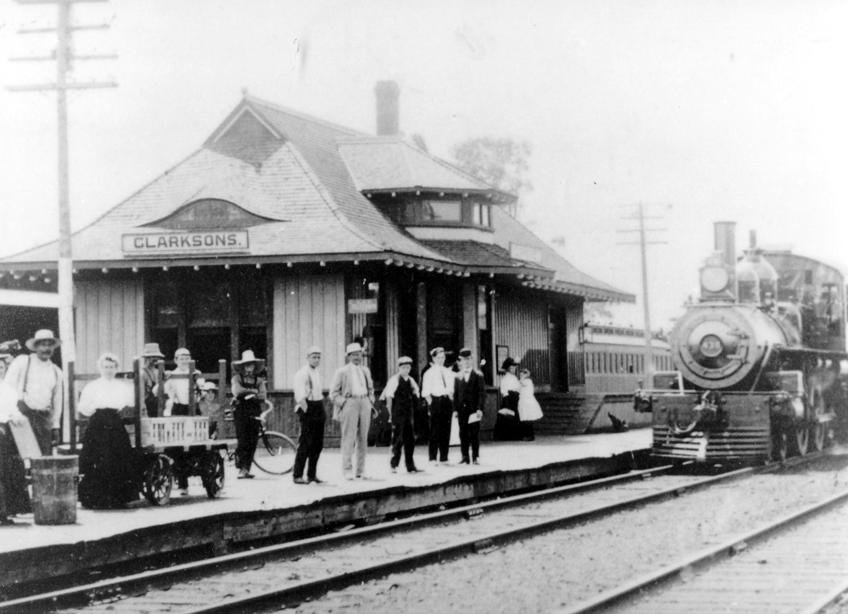 Clarkson Train Station, Great Western Railway, c1900