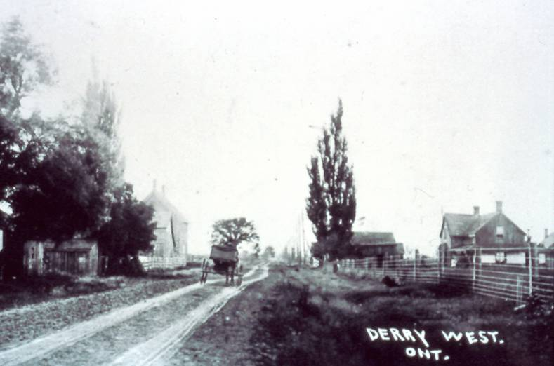 Derry West – Looking East along Derry Road, c1900