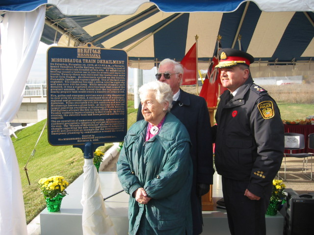 Plaque with Mayor McCallion