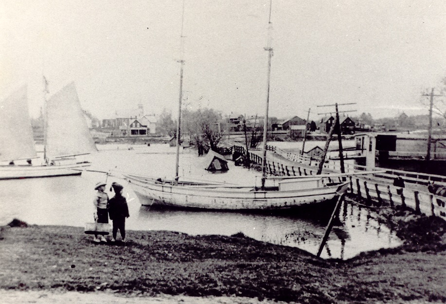 Port Credit Harbour Scene, Port Credit, looking west, c1880