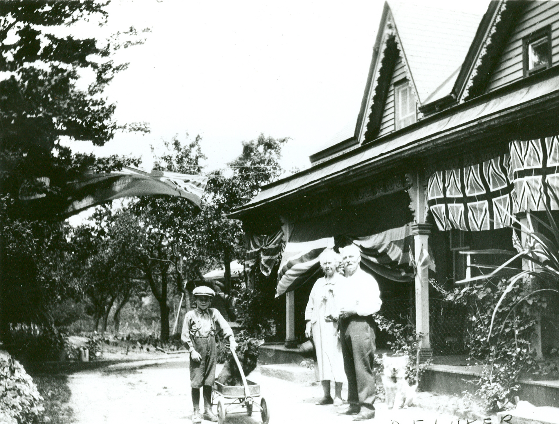 Tower House – Luker Residence, decorated for Victoria Day, Lorne Park
