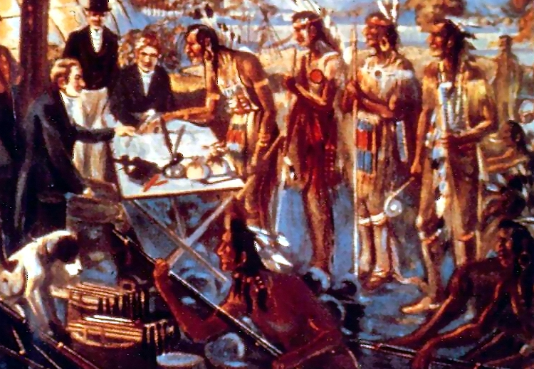 Artists' rendition – signing Treaty 13A