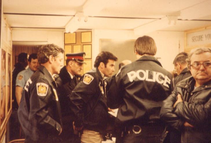 Police Command Post – Train Derailment