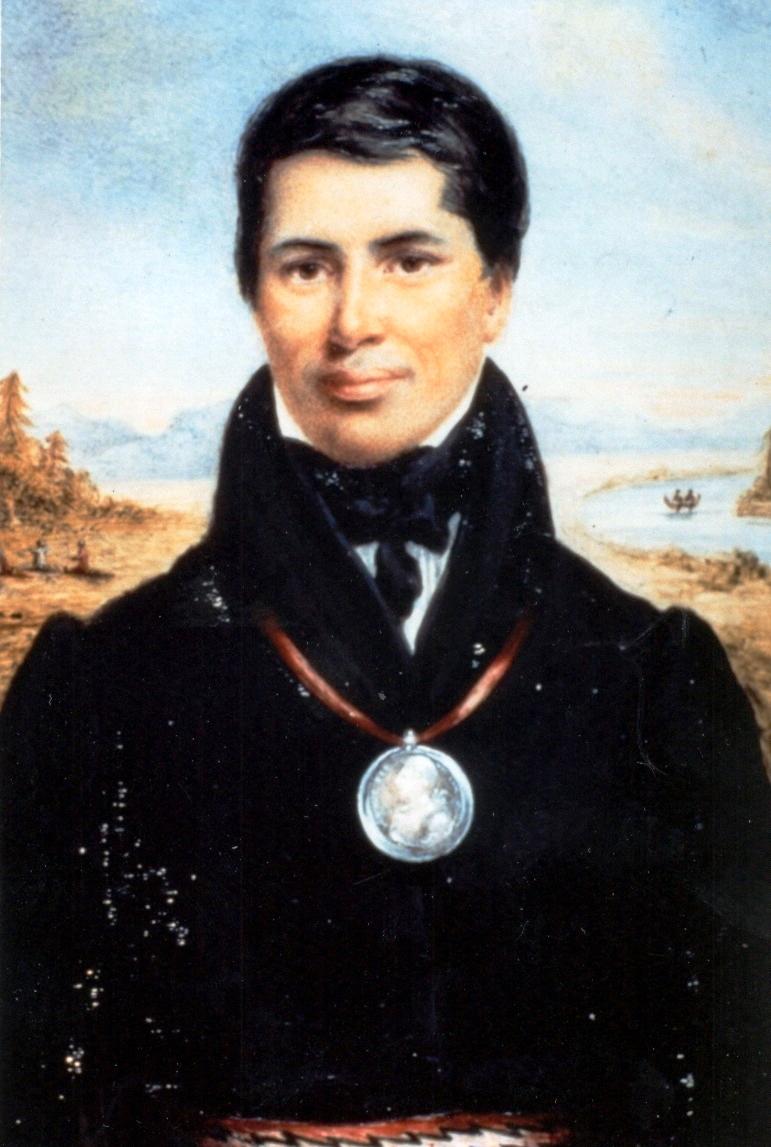 Reverend Peter Jones, portrait by Matilda Jones, 1832