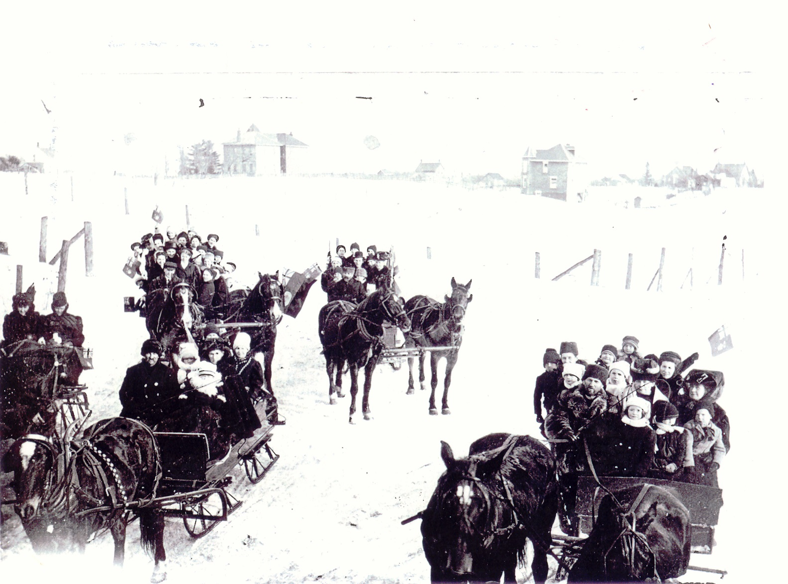Sleighing Party, Port Credit, c1910